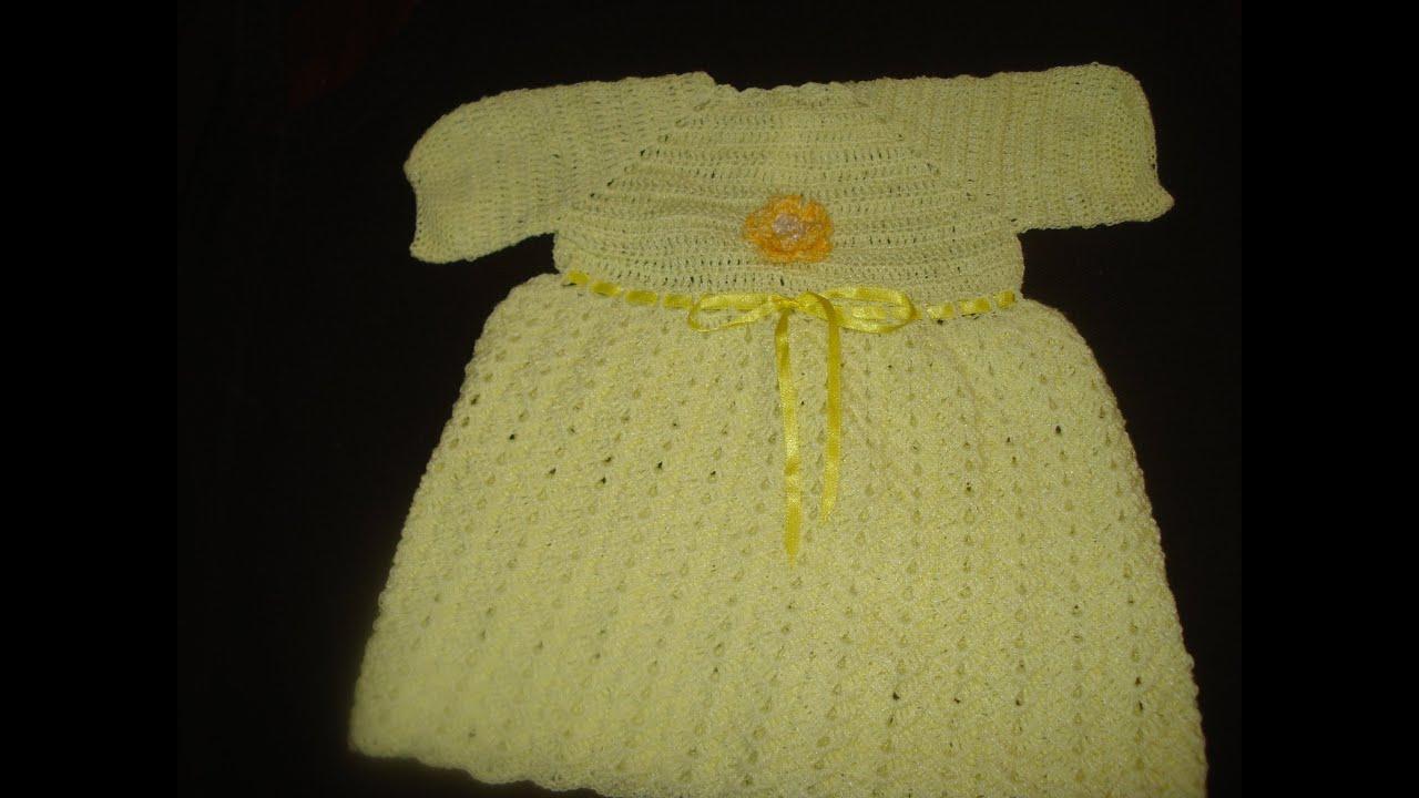 Vestido tejido en gancho para bebe parte 2 de 2 youtube - Traje de duende para nino ...