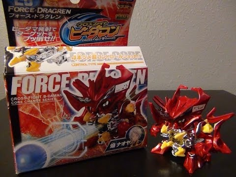 Cross Fight B-Daman unboxing & review CB-26 FORCE=DRAGREN (Takara Tomy)