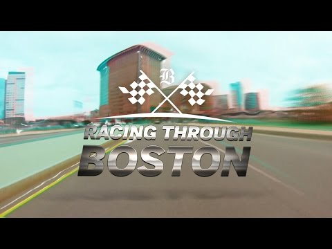 Ryan Hunter-Reay races through Boston