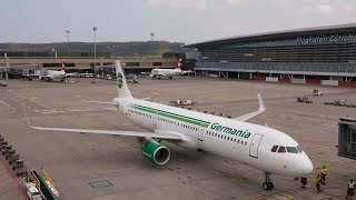 A Germania A321SL getting offloaded