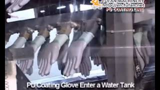 PU coating gloves machine|Hawhen coated work gloves making machine