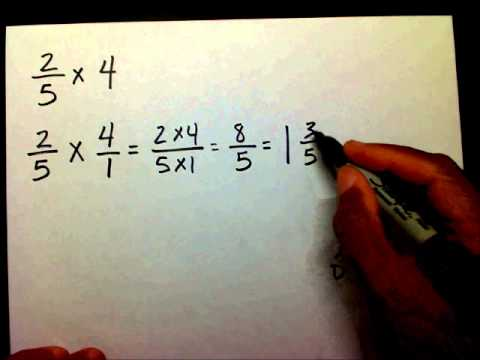 Multiply Fractions And Whole Numbers video
