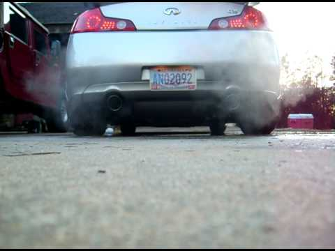04 Infiniti G35 exhaust with test pipes Video