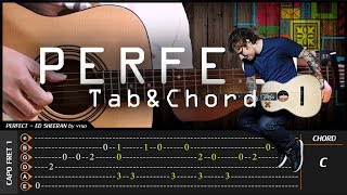 Download Lagu Ed Sheeran - PERFECT - Cover (Fingerstyle Cover) + TAB Tutorial (Lesson) Gratis STAFABAND