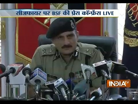 BSF IG addressing Media on ceasefire violation by Pakistan