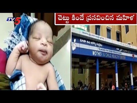 చెట్టు కిందే ప్రసవం..! | Doctors Negligence in Nalgonda Dist | TV5 News