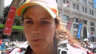 20 gennaio   Laia Sanz a fine Dakar2013