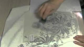Трафаретная роспись ткани
