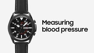 Galaxy Watch3: Measuring blood pressure   Samsung