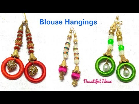 Blouse Hangings//How to make Silk thread Blouse Hangings //Latest Blouse Hanging Designs//DIY//