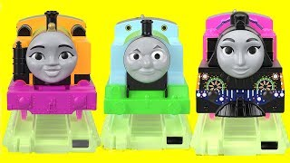 New Thomas and Friends Glow in the Dark Track Playset and Thomas Minis Glow in the Dark Trains, Toys
