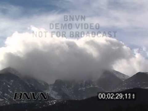 11/7/2006 Longs Peak, CO Clouds & Mountains Video