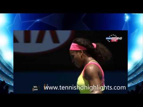 Serena Williams vs Vera Zvonareva Australia Open 2015