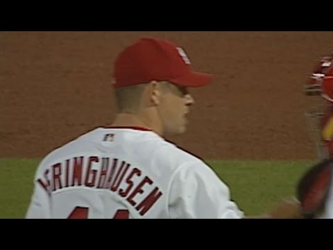 10/1/04: Cardinals closer Jason Isringhausen ends the game, tying Lee Smith's club record with his 47th save of the season Check out http://m.mlb.com/video for our full archive of videos,...