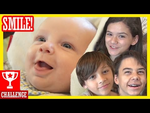 MAKE THE BABY SMILE CHALLENGE With Baby Micah! (Inspired by FUNnel Vision!)  |  KITTIESMAMA #1