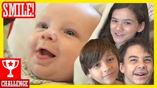 MAKE THE BABY SMILE CHALLENGE With Baby Micah! (Inspired by FUNnel Vision!)  |  KITTIESMAMA
