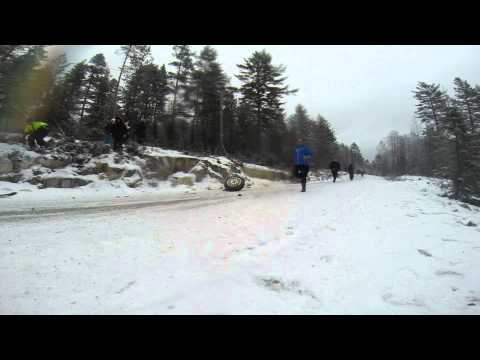 Marius Aasen big crash Sigdalsrally 2014