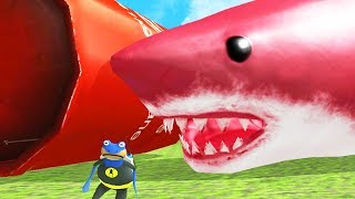 Download Lagu NEW RED GIANT SHARK vs NEW GIANT EXPLODING TANK! - Amazing Frog - Part 131 | Pungence Gratis STAFABAND