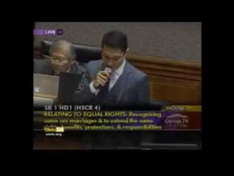 Rep Kaniela Ing On Marriage Equality video
