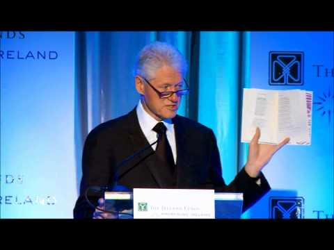 President Clinton keynote at The Ireland Funds Conference 2012