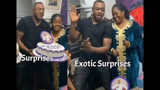 Odunlade Adelade  almost breakdown on his birthday as his wife danced with him with surprises
