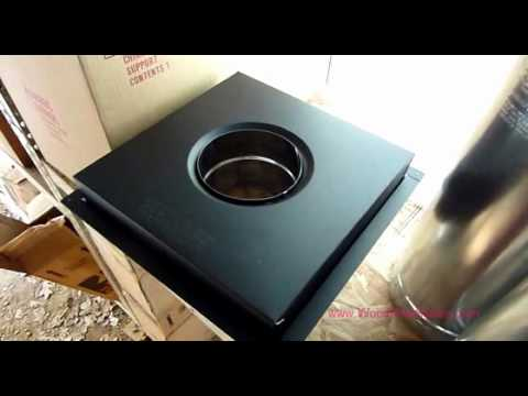 Wood Stove Chimney System Components & Installation video review #2