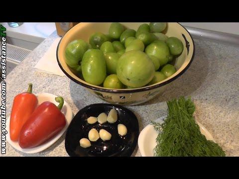 Маринованные зеленые помидоры за 24 часа - Как мариновать зеленые помидоры