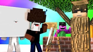 Minecraft Mini-Game : DO NOT LAUGH! (BOB ROSS AND BARNEYS LAST WORDS!) w/ Facecam