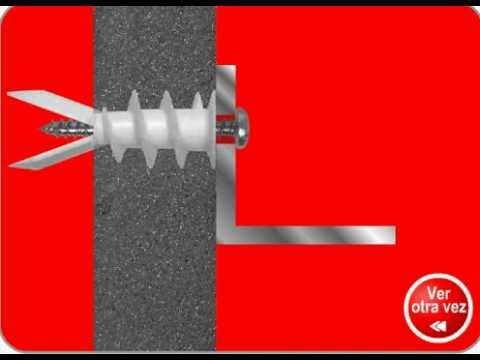 Como instalar un taquete nylon para tablaroca grambel - Como instalar una hamaca en la pared ...