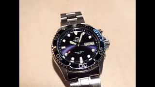 Orient Ray Blue Cal. 46943 movement in 120FPS slow motion