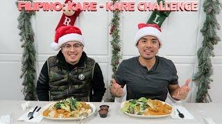 MASSIVE FILIPINO KARE KARE CHALLENGE! MUKBANG | 12 FOOD CHALLENGES OF XMAS: #9