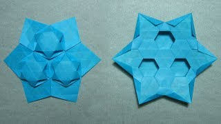 Origami Tessellation Instructions: Star Puff (ralf Konrad)
