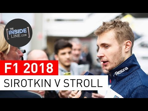 F1 NEWS 2018 - WILLIAMS: SIROTKIN V STROLL [THE INSIDE LINE TV SHOW]