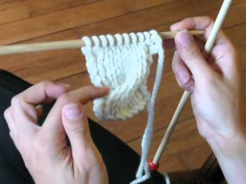 comment tricoter torsade