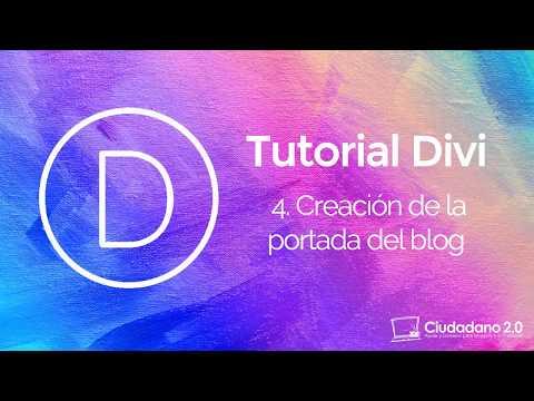 Cómo crear una portada en un blog WordPress con Divi