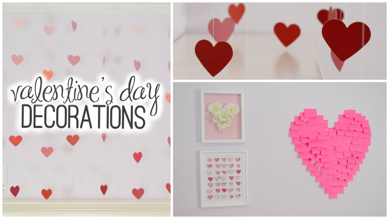 Diy room decorations for valentine 39 s day youtube for Valentine s day room decor