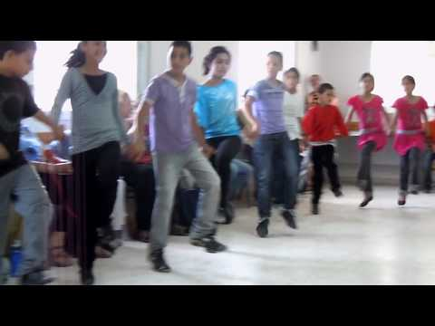 Palestinian Children of al-Aroub Refugee Camp dance for the Compassionate Listening Project