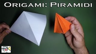 Origami facili e veloci. Piramidi. Origami easy and fast. Pyramids