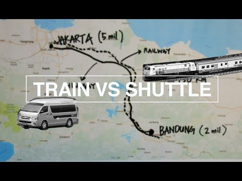 Video travel from bandung to jakarta