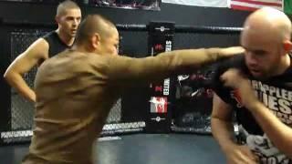 Pro MMA fighter's Slip punch drill