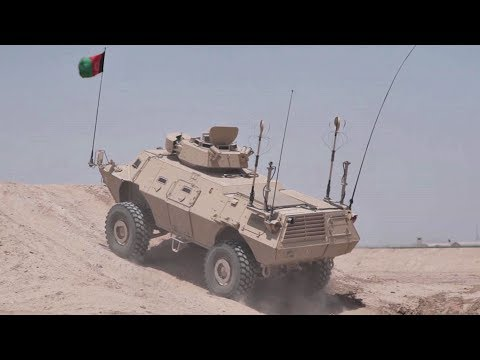 Afghan's Mobile Strike Force Vehicle in Rough Terrain Driving Course | AiirSource