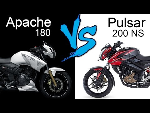 TVS Apache RTR 180 ABS Vs Bajaj Pulsar 200 NS   Comparison Review (EXTENDED)