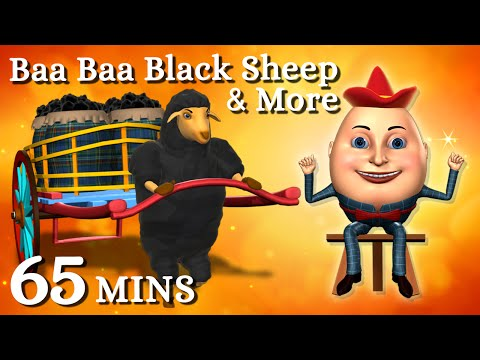Baa Baa Black Sheep | Humpty Dumpty & More 3d English Nursery Rhymes Songs For Children video