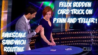 Felix Bodden's Amazing Penn And Teller Card Trick! Performance And Tutorial!
