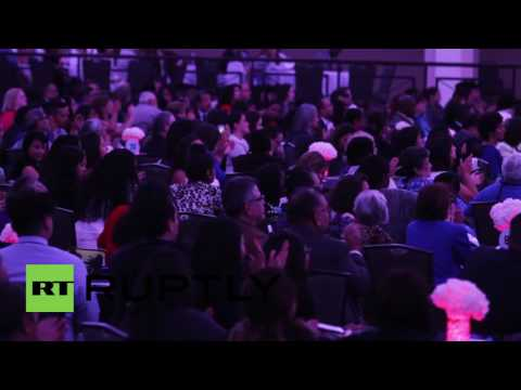 USA: Clinton speaks immigration policy to Latin Americans in DC