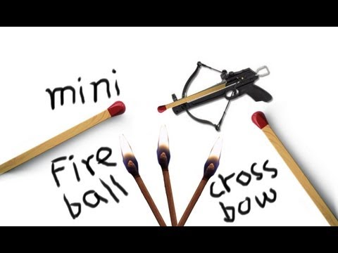 How to Make a Mini Fireball Crossbow