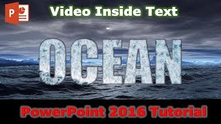 How to Fill Text With Video | PowerPoint 2016 Tutorial | The Teacher