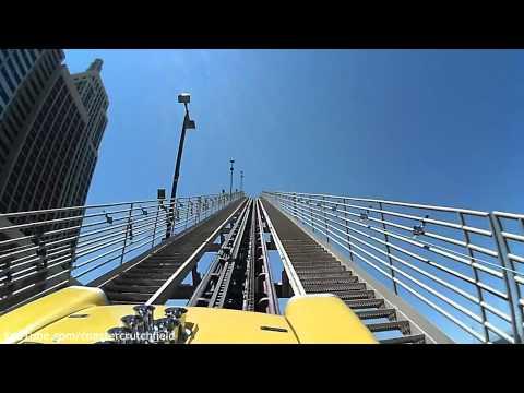 The Roller Coaster (HD POV) New York, New York Hotel & Casino Las Vegas