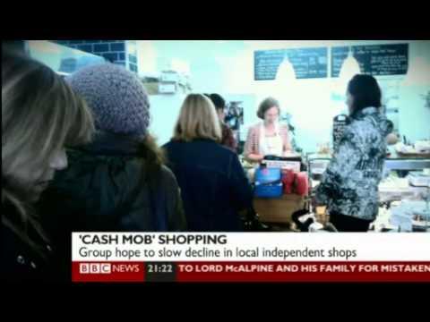 Karen Mercer - BBC News- Cash Mobs