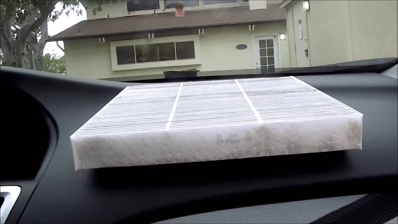 diy    honda accord cabin air filter replacement youtube